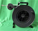 Lightcast open retractable ethernet data audio cable reel 500' with level winder