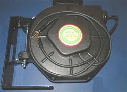 Retractable TRS quarter 1/4 inch Stereo Audio Cable Reel - 50' foot - Audio Reels by Lightcast